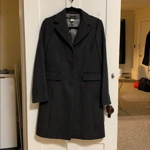 Jcrew Dark Grey Wool Coat sz 4